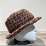 Chapeau bob marron-beige doublé