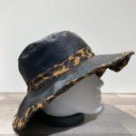 Chapeau capeline bi matière Tamira noir-léo doublé