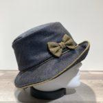 Chapeau cloche gris doublure polaire