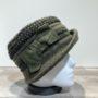 Chapeau cloche kaki-vert doublure polaire