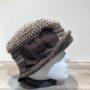 Chapeau cloche marron-beige doublure polaire