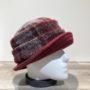 Chapeau cloche bordeaux-gris doublure polaire