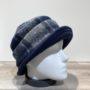 Chapeau cloche marine-gris doublure polaire