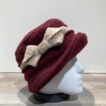 Chapeau cloche bordeaux doublure polaire