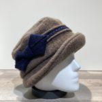 Chapeau cloche marron doublure polaire