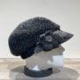 Casquette gavroche gris foncé chiné élastiquée doublure polaire