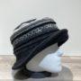 Chapeau cloche noir-gris doublure polaire