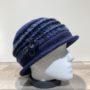 Chapeau cloche marine doublure polaire