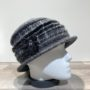 Chapeau cloche gris foncé doublure polaire
