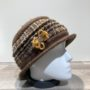 Chapeau cloche jaune foncé doublure polaire