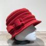 Chapeau cloche polaire rouge doublé