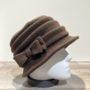 Chapeau cloche polaire marron foncé doublé