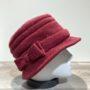 Chapeau cloche polaire bordeaux doublé
