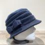 Chapeau cloche polaire marine doublé