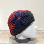 Bonnet rouge et noir doublure polaire