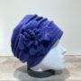 Toque laine bleu