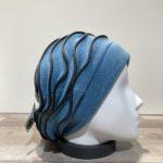 Bonnet polaire vagues turquoise