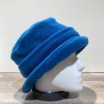 Chapeau cloche polaire bleu doublé