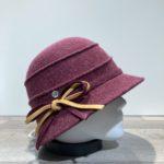 Cloche feutre laine prune