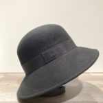 Chapeau bord moyen feutre laine noir