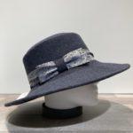 Chapeau bord large feutre laine gris anthracite