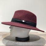 Chapeau feutre laine bordeaux