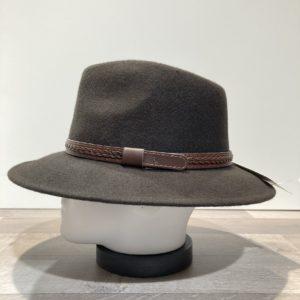 Chapeau feutre laine marron foncé