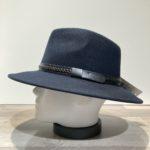 Chapeau feutre laine marine