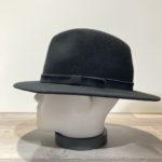 Chapeau feutre laine et cachemire noir