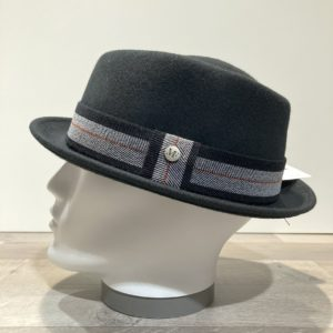 Chapeau Porkpie feutre laine noir