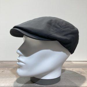 Casquette coton huilé imperméable noir doublée