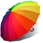 Parapluie droit golf mixte multicolore
