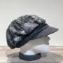 Casquette gavroche patch gris-noir élastiquée doublure polaire