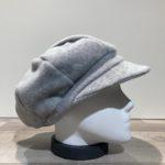 Casquette gavroche polaire élastiquée gris clair