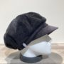 Casquette gavroche velours côtelé noir élastiquée doublure polaire