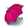 Parapluie droit mixte automatique Sunflower Pierre Cardin rouge