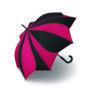 Parapluie droit mixte automatique Sunflower Pierre Cardin rouge et noir