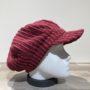 Casquette gavroche velours rouge élastiquée doublure polaire