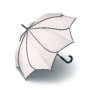 Parapluie droit mixte automatique Sunflower Pierre Cardin blanc
