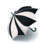 Parapluie droit mixte automatique Sunflower Pierre Cardin noir et blanc