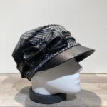 Casquette cubaine bi matière noir-gris-écru élastiquée doublure polaire