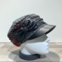 Casquette cubaine bi matière noir-gris-rouge élastiquée doublure polaire
