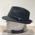 Chapeau trilby feutre laine noir