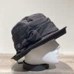 Chapeau cloche de pluie noir doublure polaire