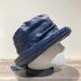 Chapeau cloche de pluie bleu doublé