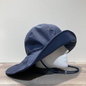 Chapeau de pluie marine bord large arrière doublé