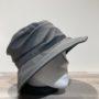 Chapeau bob de pluie gris doublé