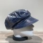 Casquette de pluie bleu plastifiée élastiquée doublée
