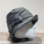 Chapeau cloche de pluie gris doublure polaire