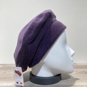 Béret polaire violet foncé